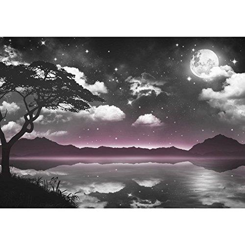 Fototapeten Natur Himmel Mond 352 x 250 cm - Vlies Wand Tapete Wohnzimmer Schlafzimmer Büro Flur...