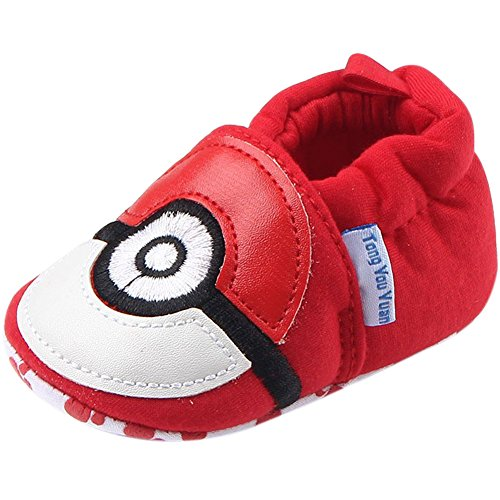 Fire Frog  Baby Indoor Shoes, Baby Jungen Lauflernschuhe Rot