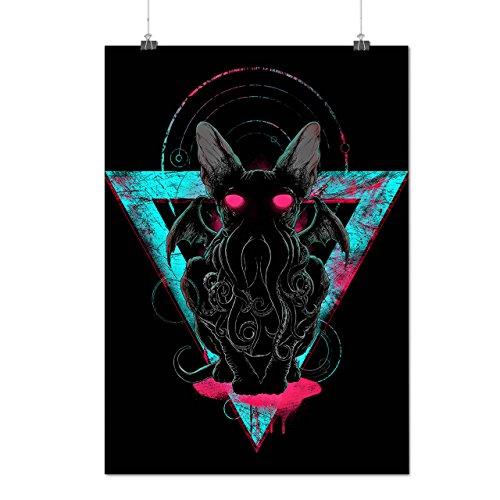 Böse Satan Tier Horror Dämon Höhle Mattes/Glänzende Plakat A3 (42cm x 30cm) | (Kostüm Dämon Übernatürliche)