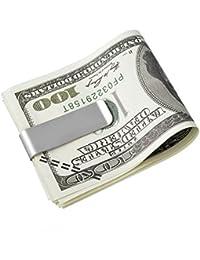 VALYRIA dans différents styles pince à billets en acier inoxydable avec pochette cadeau