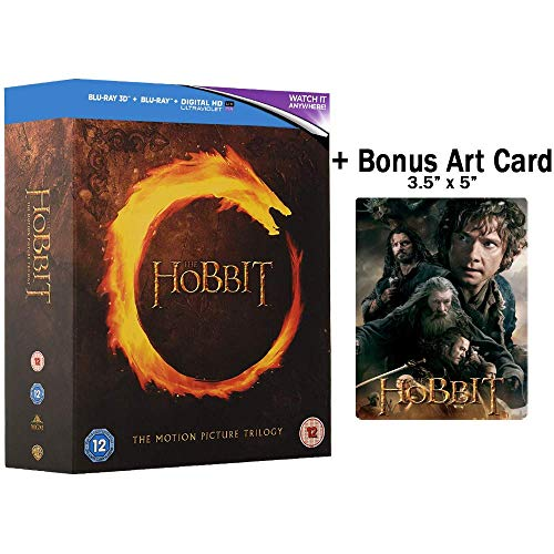 The Hobbit: Complete Movie Trilogy Blu-ray Box Set (REGION FREE) with Exclusive Special Features + Bonus Art Card