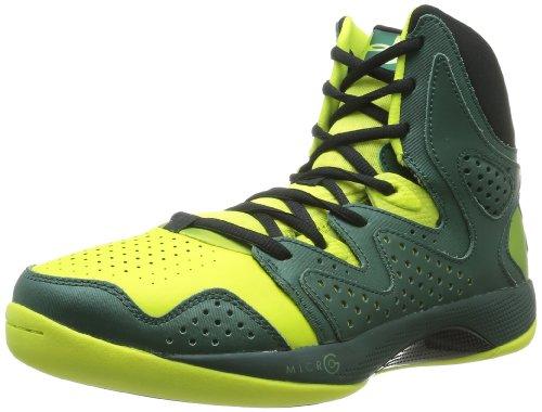 Under Armour Ua Micro G Ion, Chaussures de basketball homme Vert (Vel/Hyper Green/Black)