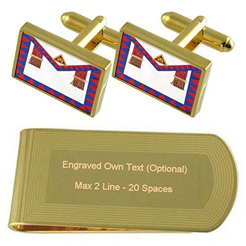 Masonic Royal Arch Principals Regalia Apron Gold-tone Cufflinks