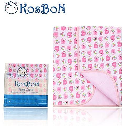 KOSBON Infant bebé Deluxe franela y fibra de bambú algodón patrón de cambio Pad, impermeable de la historieta para cambio de pañales Pad para casa y de viaje