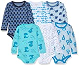 Care Langarm Baby Body 6er Pack, Blau (Light Sky Blue 770), 6 Monate/68 cm