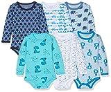 Care Baby - Jungen Langarm Body 3er und 6er Packs Blau (Light Sky Blue 770), Herstellergröße: 68