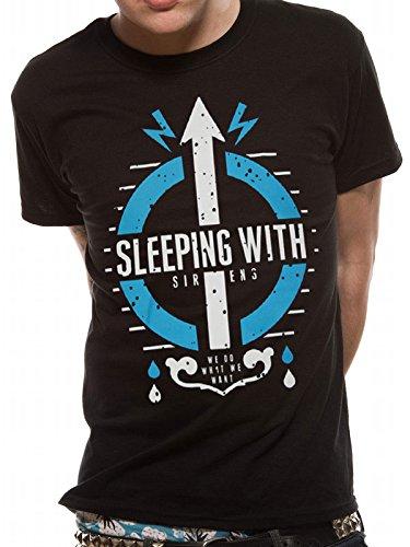 CID Herren T-Shirt SLEEPING WITH SIRENS - CARE Schwarz (Black)