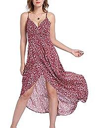 61cf27ef4eb252 MILEEO Damen Chiffon Kleid Knielang mit Plissee-Falten Ärmellos  Cocktailkleid 20 Style