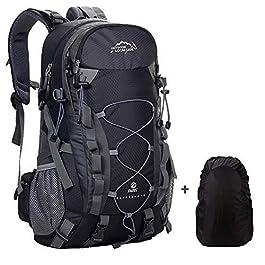 Meisohua Zaino da Trekking Outdoor Donna e Uomo con Protezione Impermeabile per Alpinismo Arrampicata Equitazione ad Alta capacità Borsa da Viaggio,Multifunzione, 40 Litri