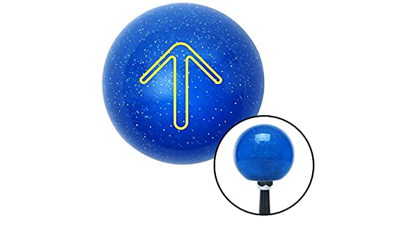 Blue Taxi American Shifter 248544 Blue Flame Metal Flake Shift Knob with M16 x 1.5 Insert