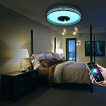 iLifeSmart Lámpara de Techo LED Plafón Techo Dormitorio 4160lm con Altavoz Bluetooth RGB Luz LED RGB Regulable APP Control