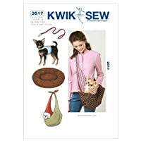 Kwik Sew Patterns K3517 Harness Leash Bed and Carrier, Pack of 1, White