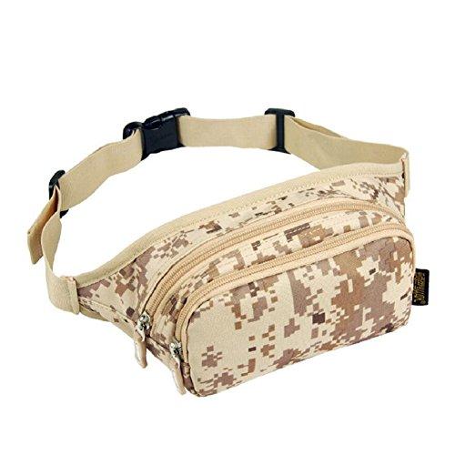 LJ&L Outdoor Läufertaschen, Geldbörse, Mehrzwecksport Reitwanderung wasserdichte Taschen, verstellbarer Gürtel, High-End-Taschen B