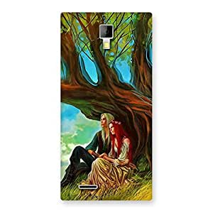 Couple Under Tree Back Case Cover for Micromax Canvas Xpress A99