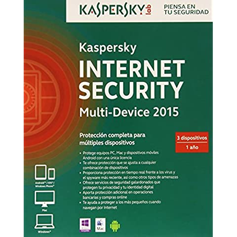 Kaspersky Internet Security Multi-Device 2015 - Software De Seguridad, 3 Dispositivos