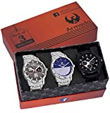 #7: ARMADO AR-GRY0710051 Combo of 3 Stylish Analog Watches-for Men