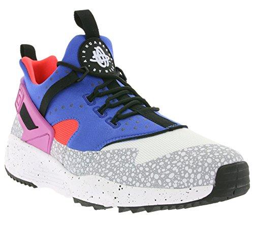 Nike Air Huarache Utility Premium, Baskets Basses Homme, Noir (Schwarz) Multicolore - Blanco / Azul / Rojo / Gris (White/Vl-Vrsty Ryl-Brght Crmsn)