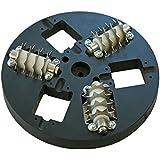 Rokamat Perforierscheiben - Ø200mm - 2er Pack - Kunststoffteller mit rotierenden Stahlsternen