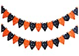 Set of 5 Halloween Paper Garland Decorations Halloween Banners (Demon)