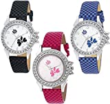 PZOZ Analog Multicolor Dial Girl's Watch Combo(Set Of 2)