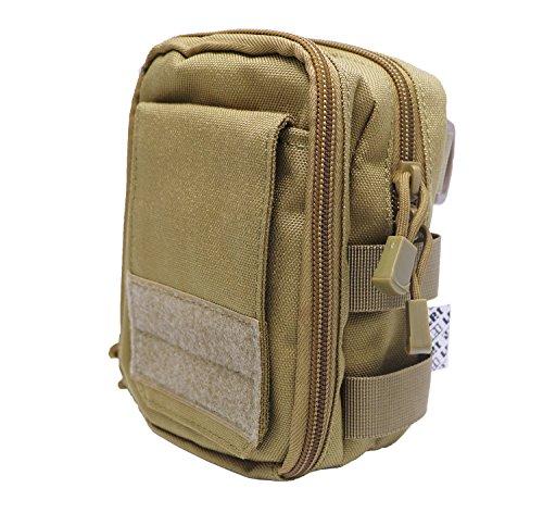 LefRight Khaki Mehrzweck Taktische Molle Dienstprogramm Beutel Taille Tasche Halfter Combo Abnehmbare Schnellverschluss Gurt