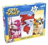 Giochi Preziosi-Super Wings Puzzle Maxi, 25Unidades