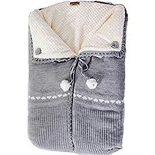 Saco capazo bebe universal de lana (danielstore) Color gris- Danielstore (20472)