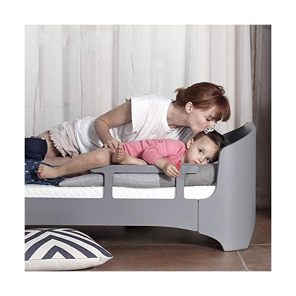 VBARV 4 in 1 Convertible Crib-Solid Wood Crib Stylish Bent Wood Baby Growth Bed Teenager Furniture, Baby Can Sleep From Birth to 10 Years VBARV 4 in 1 Convenience: Designed to save you the hassle of buying multiple beds as children grow up (and extra money!). Easily convert to toddler beds, sofa beds and full-size beds. Grow with your baby: 4 adjustable mattress positions that you can lower as your baby starts sitting and standing. We built this crib to withstand even the most active babies and toddlers and continue into your child's teen years. For your baby's safety: say goodbye to toxic chemicals! Complete with non-toxic multi-step spraying process, lead and phthalate are safe. Please be assured that it has exceeded the safety standards of ASTM International and the US CPSC. 5