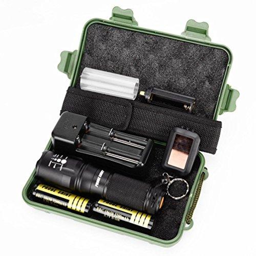 Lampe de poche,OVERMAL G700 X800 Led Zoom De La Batterie Tactile Lampe De Poche