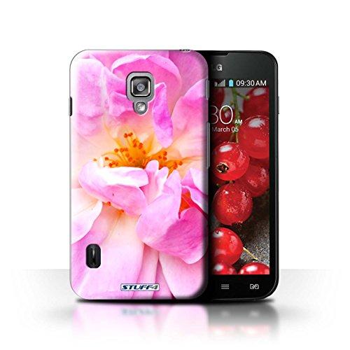 Kobalt® Imprimé Etui / Coque pour LG Optimus L7 II Dual / Champs de fleurs conception / Série floral Fleurs Portulaca