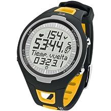 Sigma PC 15.11 - Pulsómetro analógico unisex (contador de caloriás, contador de 50 vueltas, frecuencia cardiáca), color amarillo