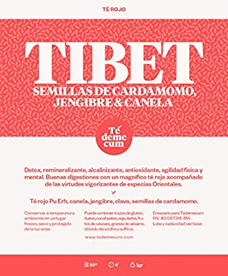 TIBET Gourmet 100gr. Pu erh rouge, graines de cannelle, gingembre, girofle, cardamome.