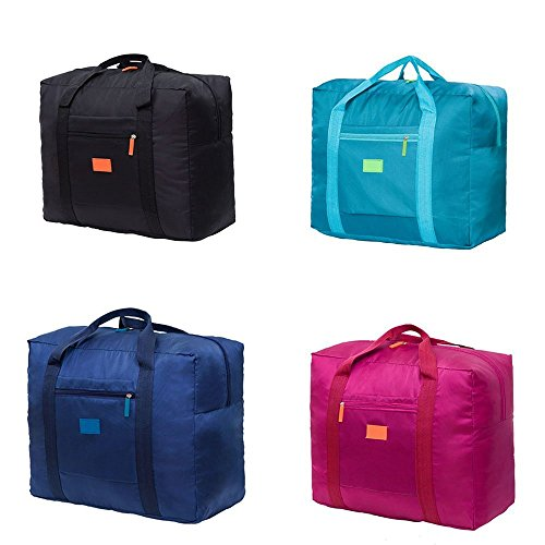 Cestval Folding Luggage Bag Lightweight Portable Hand Baggage Foldable Travel Tote Duffel Bag Clothing Packing Organizer For Sport Carrying On Suitcase Cabin Wheeled Holdall 1 Pcs Random Color