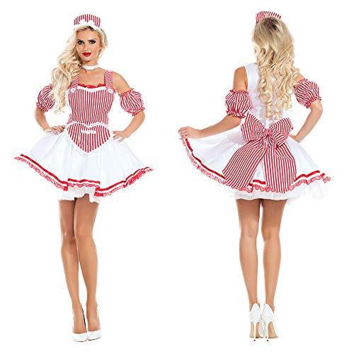 Kostüm Kellner Mädchen - BEESCLOVER Bieranzug Kinder Mädchen Junge Mode Oktoberfest Kellner Kellnerin Cosplay Kostüm Bier Festival Anzug Grünes Bier Mädchen S