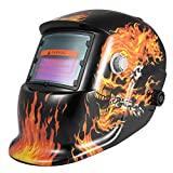 KKmoon Professional Solar Energy Auto Oscura Saldatura Casco Saldatore TIG MIG Grinding Mask Robot Style (Tipo 5)