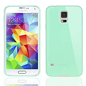 Bingsale TPU Case Samsung Galaxy S5 / Samsung Galaxy S5 Neo Silikon Tasche Hülle - Silicon Protector Schutzhülle (Samsung Galaxy S5 / Samsung Galaxy S5 Neo, Türkis-grün)