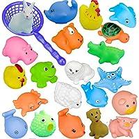 Stillshine 15 Piezas Diferentes Animales Juguetes de baño, Animales de mar Pulpo Delfines Pato para