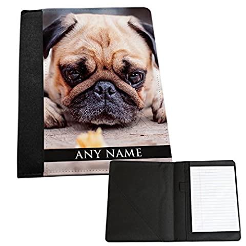 personalisierbar Mops Hund Tier Medium Notizblock 242