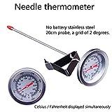 Plat Firm Strumenti di Cottura della Cucina di Trasporto Libero termometro dell'ago, misuratore di Temperatura dell'olio, termometro dell'alimento Liquido, termometro di frittura
