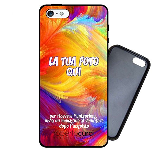 Curci roberto cover personalizzata per apple iphone - apple iphone 5 5s, nero