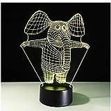 Lampada da tavolo in piedi elefante 7 colori cambiando lampada da scrivania lampada 3d novità luci notturne a led luce DropShip