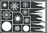 Kreul 74811 - Window Style Schablone Eiskristalle