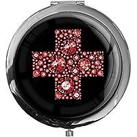 """metALUm - Extragroße Pillendose in runder Form""""Rotes Kreuz"""" preisvergleich bei billige-tabletten.eu"""