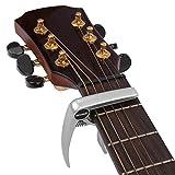 Neewer® Capo Capodastre Guitare Clamp Pince Solitaire Spécialement conçu pour Ukulele Banjo Mandoline Capo - Argent