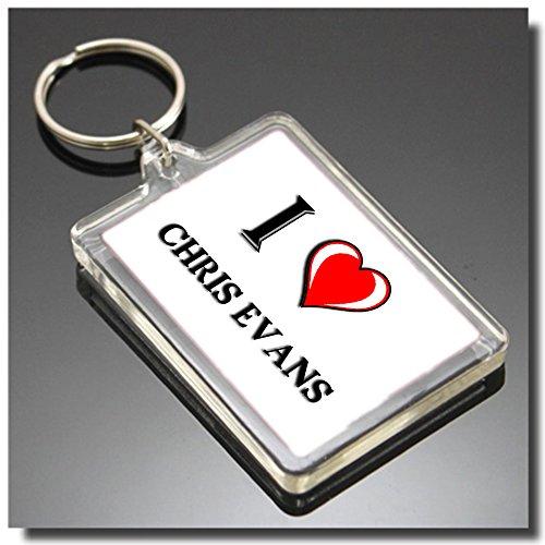 I HEART CHRIS EVANS KEYRING - I LOVE CHRIS EVANS KEYRING