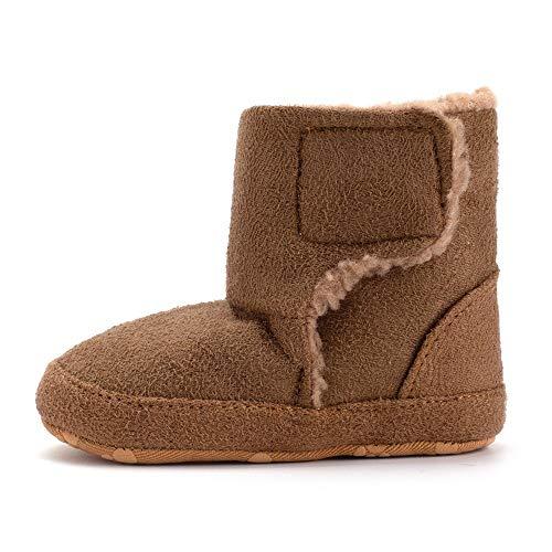 (Beikoard Neugeborene Baby Mädchen Jungen Herbst und Winter Feste Farbe Rutschfeste Schuhe warm Plus Samt Kleinkind Schuhe Stiefel Baumwolle Stiefel)