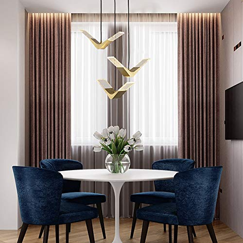 BICCQ Kronleuchter Moderne Wohnzimmer Schlafzimmer Kupfer Gold Kronleuchter Kreative Bar Veranda Esszimmer Lampe Gang Treppe Möwe Dekorative Deckenleuchte 3 Led Lichtquelle 55x120 cm