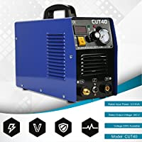 Soldador de Hilo Continuo sin Gas, CUT40 Profesional 50A Inversor Digital Air Plasma Cutter Machine