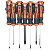 Presch set di 7 cacciaviti con certificazione TÜV - GS - Set di cacciaviti magnetici a taglio e croce - Attrezzi professionali