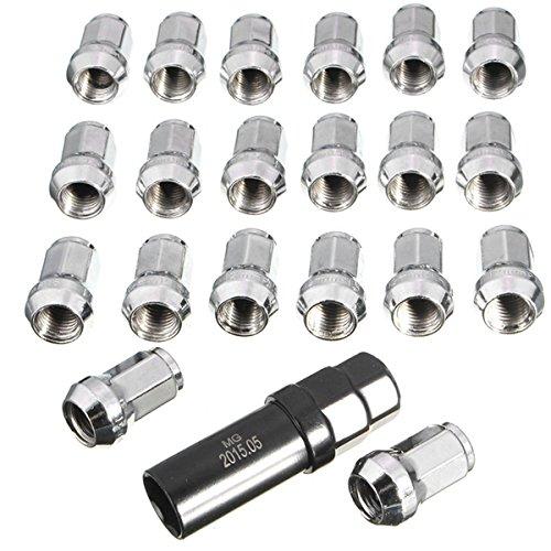GOZAR 20 Pcs M12X1.5 Roues De Voiture en Aluminium Jantes Lug Nuts Chrome Boule Siège pour Honda Usine OEM